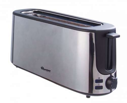RAMTONS 2 SLICE WIDE SLOT POP UP TOASTER STAINLESS STEEL- RM/586 image 1