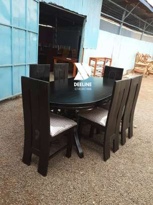 Oval 6 Seater Dining Table Set (401) image 6
