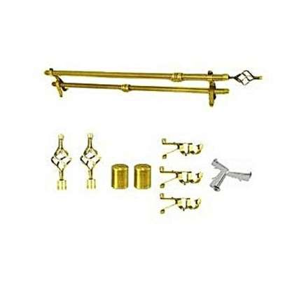 2 M GOLDISH CURTAIN RODS image 1