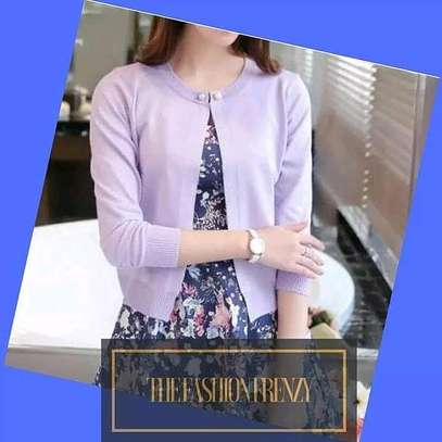 Purple One Button Cardigan