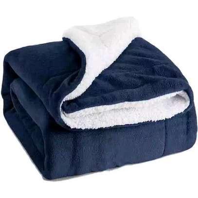 5 by 6 Flannel Throw Sherpa Super warm Fleece blanket image 6