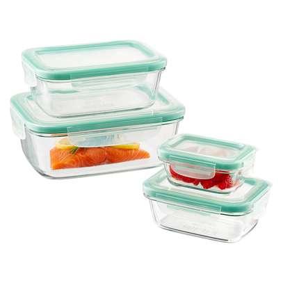 4piece glass storage with lids 400ml,630ml,1000ml,1480ml image 2