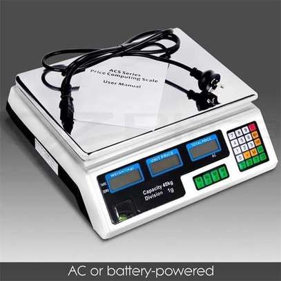 30kg Digital Price Computing Scale LED and LCD Electronic Weighing Scale Commercial Price Scale ACS 30 image 1