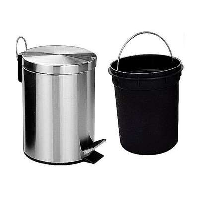 Stainless Steel Step Pedal Dustbin,3L, 5L 12L & 20L image 1