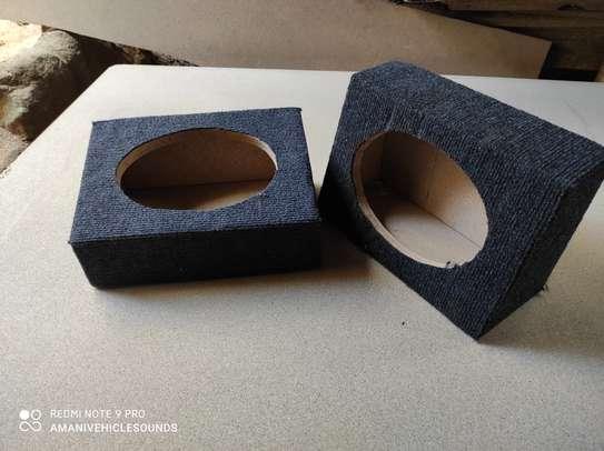 "2 Pack (1 Pair) Custom 6"" x 9"" vented Speaker Box with Carpet. image 1"