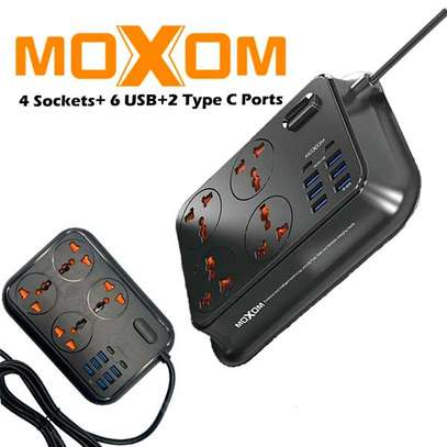 MOXOM MX-ST06 2-Meter Wall Extension Plug Cord with 4 Socket Outlets and 6 USB and 2 PD Charge 3.4A image 7