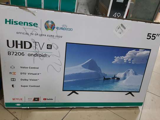HISENSE 55INCH ANDROID SMART 4K UHD TV image 1