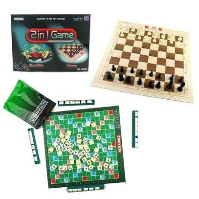 2 in 1 chess scrabble