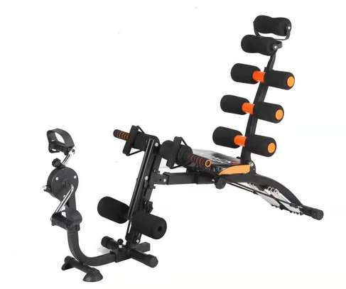 EXERCISE BENCH SIT UP GYM FITNESS MACHINE WITH PEDAL BIKE image 1