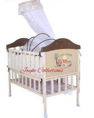 Metallic baby cots available in color brown, blue & pink