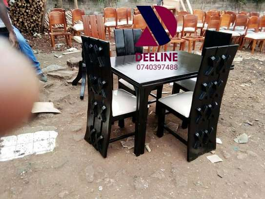 Black 4 Seater Dining Table sets image 8