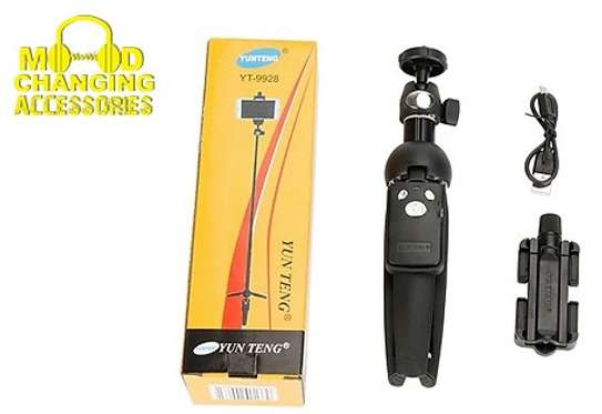 Yunteng YT-9928 Handheld Tripod Monopod Selfie Stick w/ Bluetooth Remote Shutter image 6