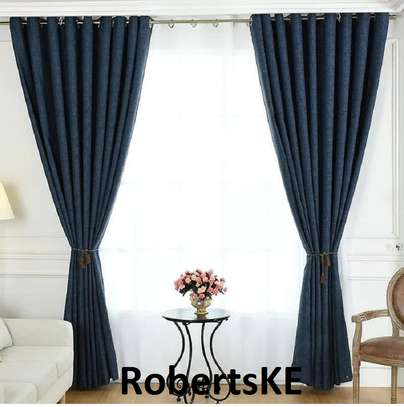 dark blue  curtain