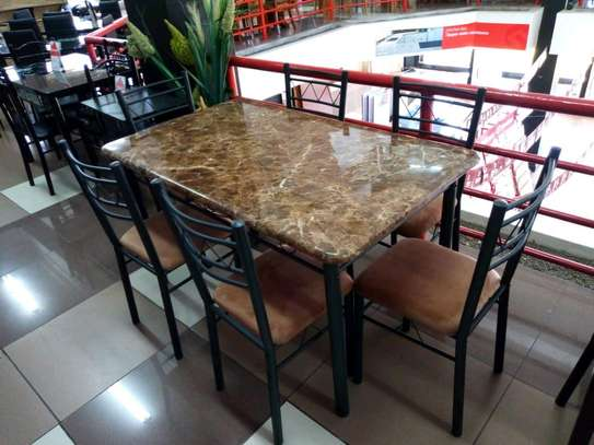 Wooden dining table set image 3