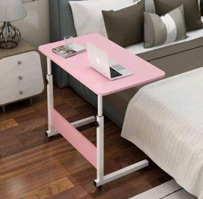 Tartan Classico Portable foldable laptop bedside table with moveable wheels.. image 1