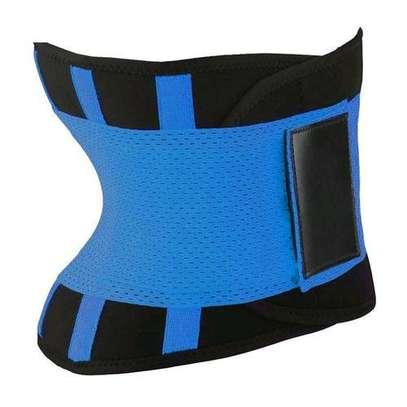 Generic Body Shapers Uni Waist Trimmer Tummy Slimming Belt Latex Waist Trainer For Men Women Postpartum Corset Shapewear( Blue) image 4