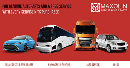 For Genuine Auto parts And A Free Service with Every Service Kits Purchased