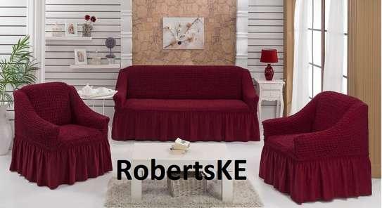 Marron sofa cover image 1