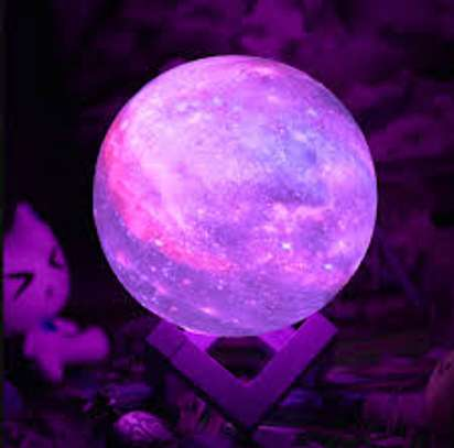 Moon Lamp Kids Night Light, GDPETS Galaxy Lamp 16 Colors 3D Star Moon Light with Wood Stand, Remote & Touch Control USB Rechargeable Perfect Gift for Baby Girls Lover Birthday image 1