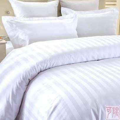 White stripped  duvet