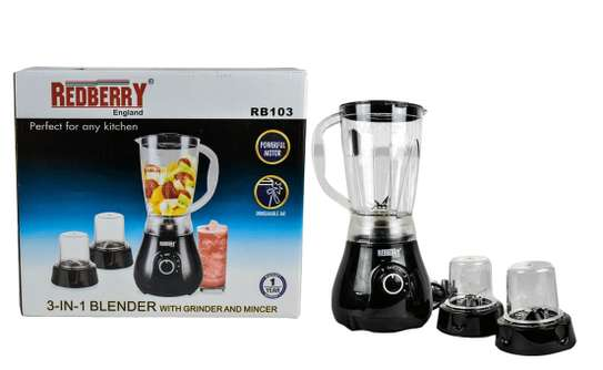 Redberry 3 in 1 with blender with Grinder image 1