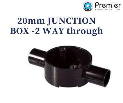 Junction Box 2 Way Through 20mm (100pcs) image 1