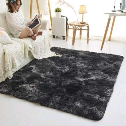 5 by 8 patched Fluffy carpets image 3