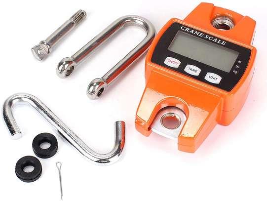 Shoze Mini Digital Crane Scale,300kg/600lb Heavy Duty Digital Crane Scale Weighing Luggage with Mini Hook image 1