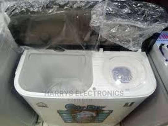 Mika 7KG Twin Tub Top Load Washing Machine image 1
