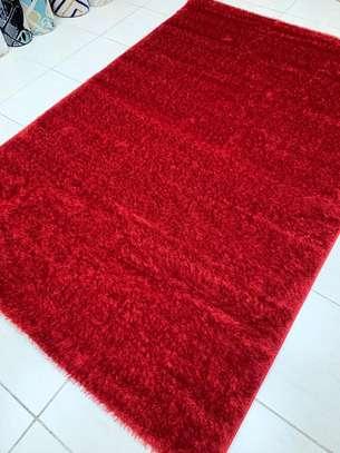 carpet  Turkish shaggy red splash image 1