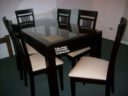 Six seater dining set/dining tables image 1