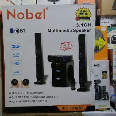 Nobel Nht-1210BT 3.1 Channel High Tech Multimedia Speakers Tall Boys image 1