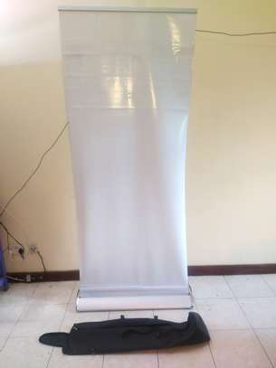 Portable PVC poster display stand