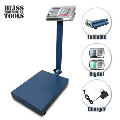 Digital Electronic Platform Weighing Scale Rechargeable Battery image 1