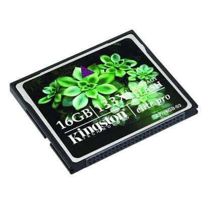 Kingston 16GB CompactFlash Elite Pro Memory Card image 1
