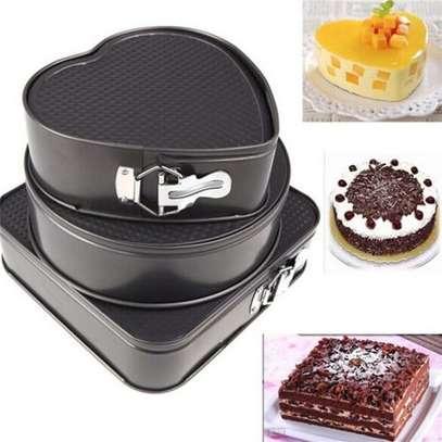 3pcs-bottom Buckle Cake Mold Non-stick image 1