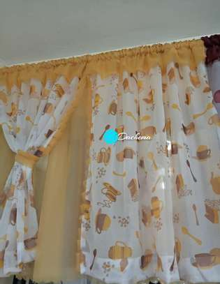 yellow sheer kitchen curtains image 1
