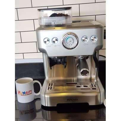 Espresso Machine & Grinder WITH BACK WATER TANK image 4