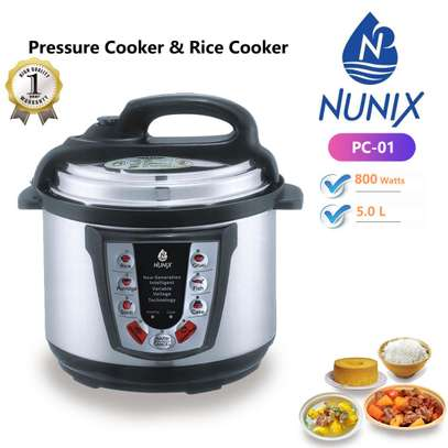 nunix pressure cooker and rice cooker image 1