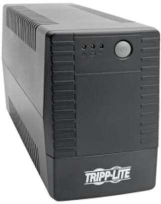 Tripp Lite Line Interactive UPS, C13 Outlets (4) - 230V, 650VA, 360W, Ultra-Compact Design image 1