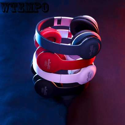 Wireless Bluetooth Headphones With  Card Radio Function image 2