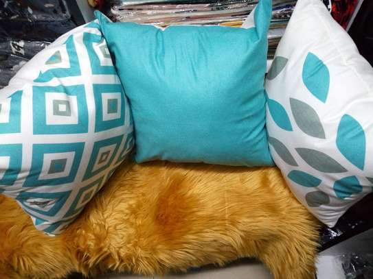 Blue Throw Pillow Covers image 2