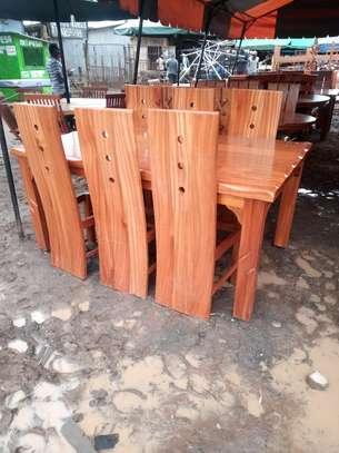 6 Seater dining table Hardwood Mahogany image 1