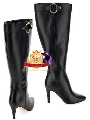 Leather Wide Fit Super Curvy Boots image 1