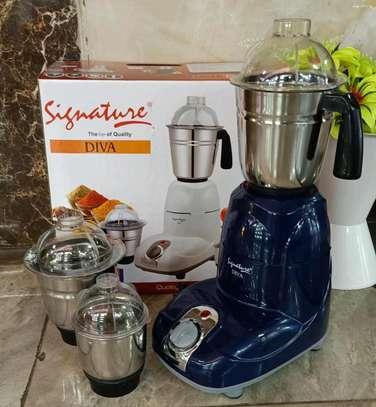 Blue blender with unbreakable jug image 1