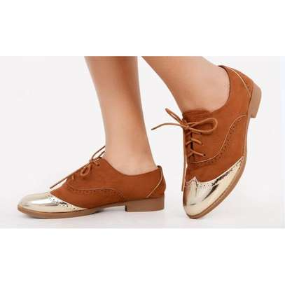 Brogues Fashion Ladies Laced Shoes image 1