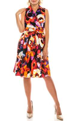 Mofire Belted A-line dress