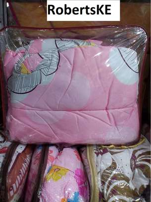pink quilted duvet image 2