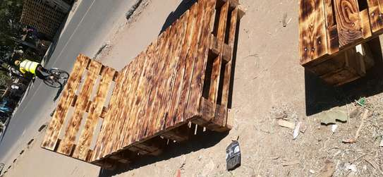 4by6 rustic pallet bed/rustic furniture/rustic beds image 3