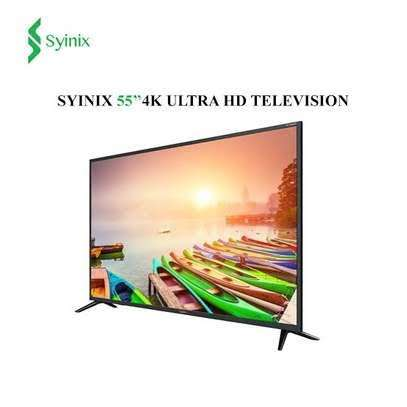 Syinix Android 55 inches Smart Frameless UHD-4K Digital TVs image 1